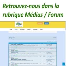 Retrouvez-nous dans la rubrique Médias / Forum